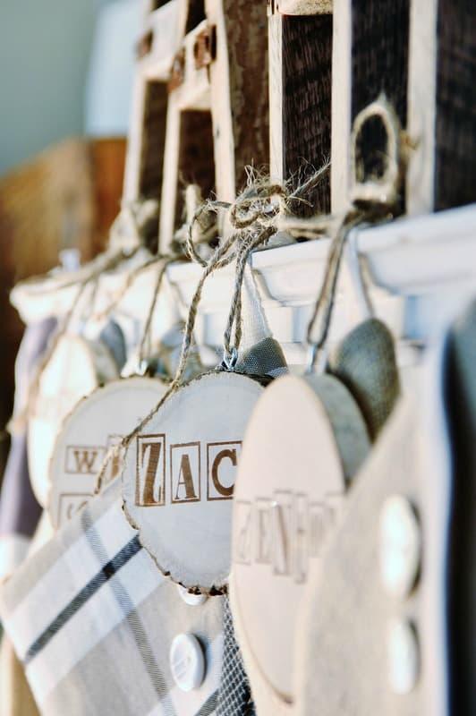 Christmas stocking tag