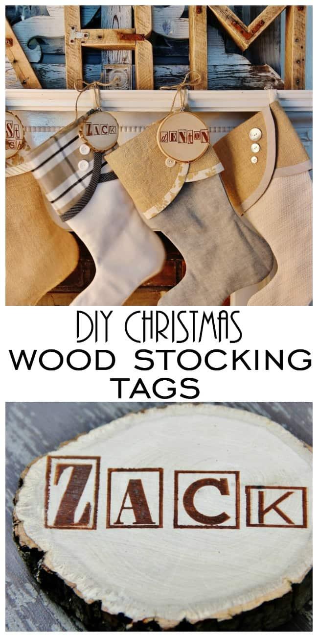 Diy wood christmas stocking tags and the thistlewood