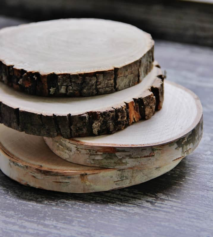 Start the project with wood slices