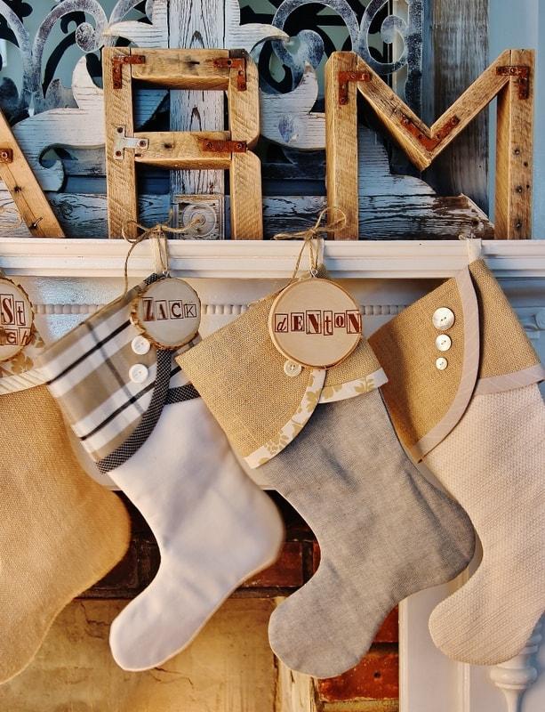 wood stocking Christmas diy