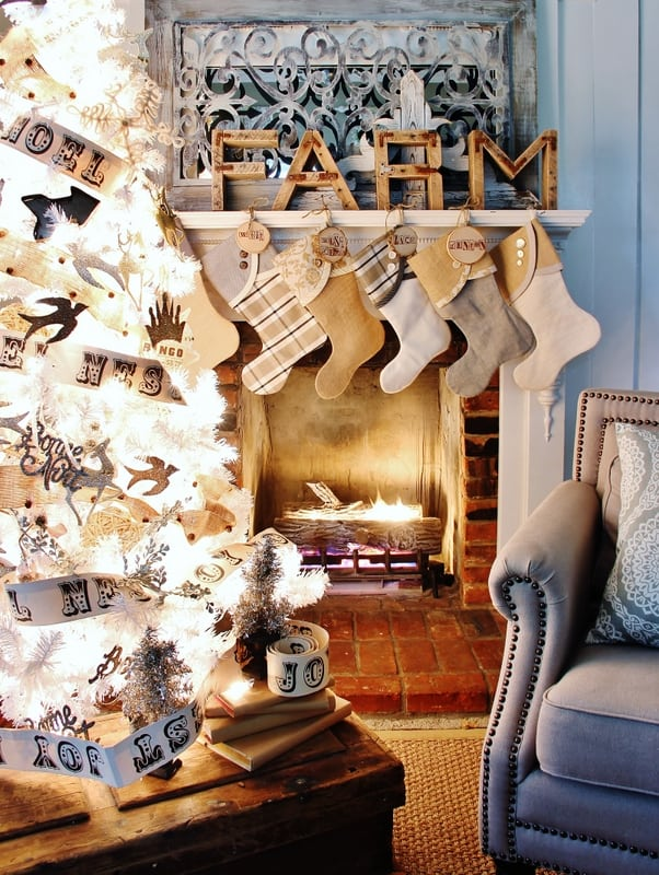 Wood stocking tags