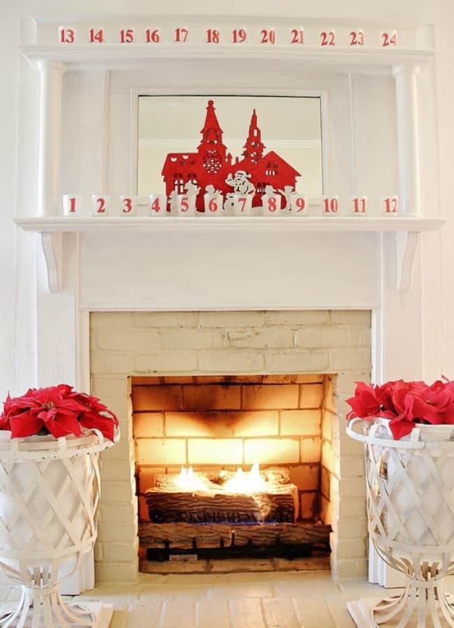 10 minute decorating ideas for christmas thistlewood farm for Mantel display ideas
