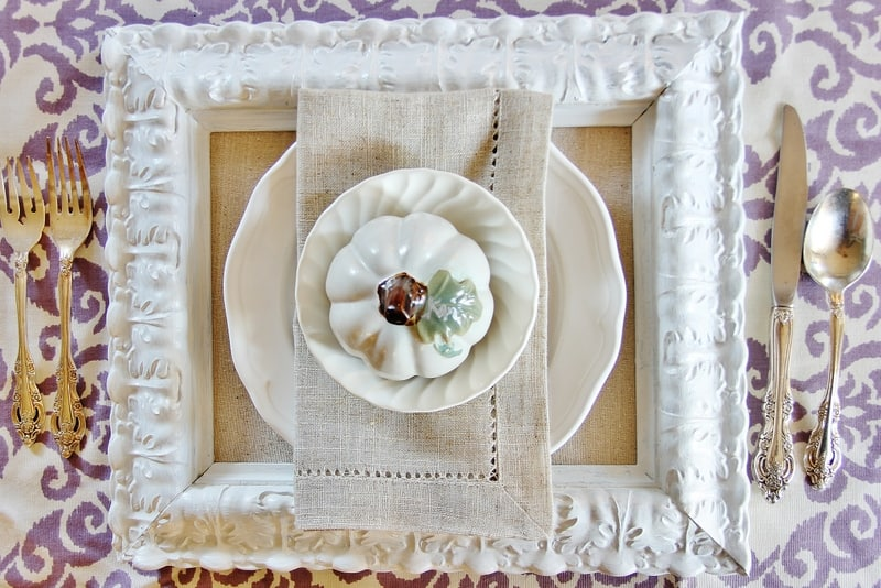 Thanksgiving Table Setting Ideas Picture Frame