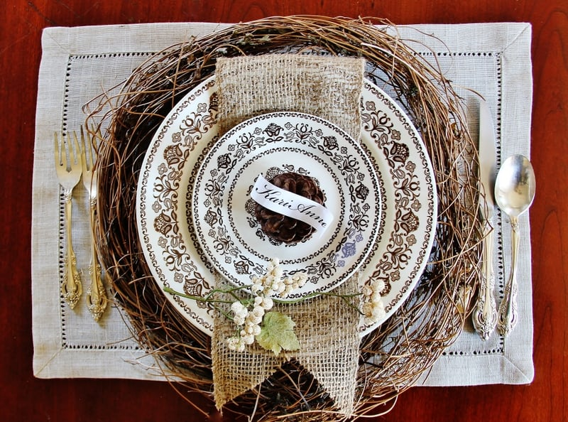 Thanksgiving Table Setting Ideas Rustic Table