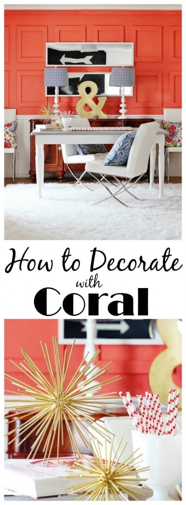 how to decorate with coral