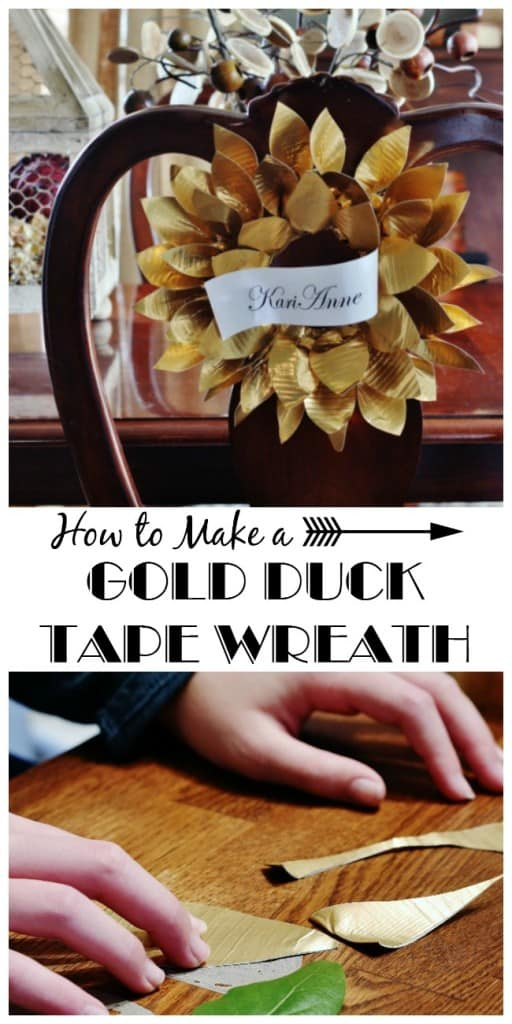 how to make a gold duck tape wreath diy