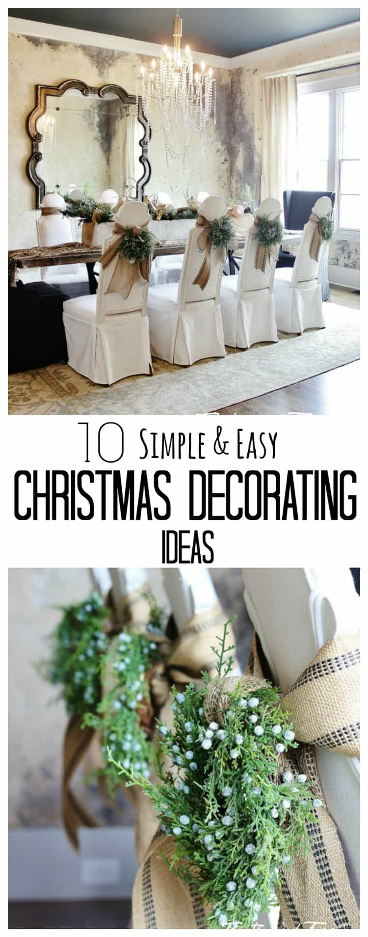 Simple Christmas Decorating Ideas: It's All About That Ceiling And 10 Simple Holiday