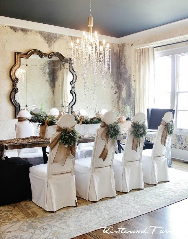 Christmas decor dining room