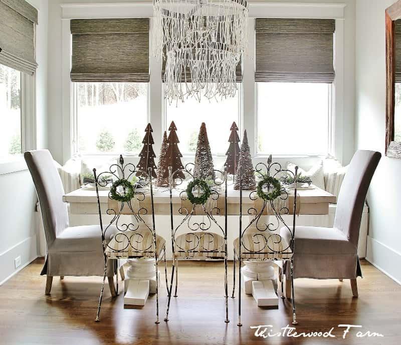 Christmas decorating ideas dining room