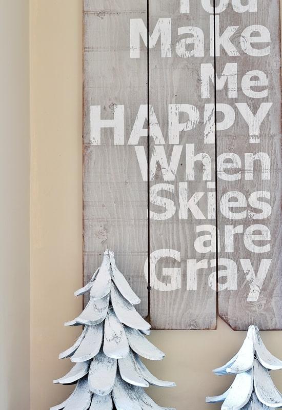 Christmas decorating sign
