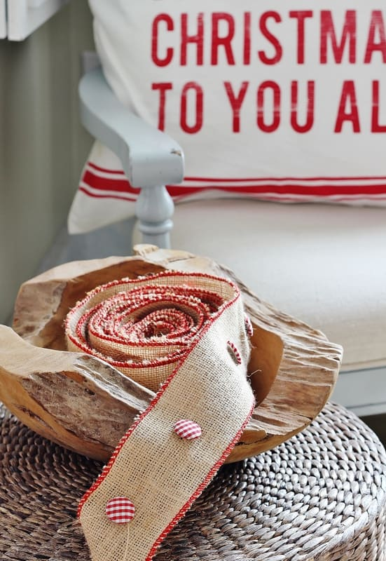 Red and white Christmas ribbon