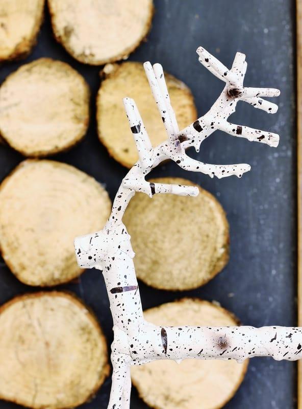 Wood Slice Christmas Tree Reindeer
