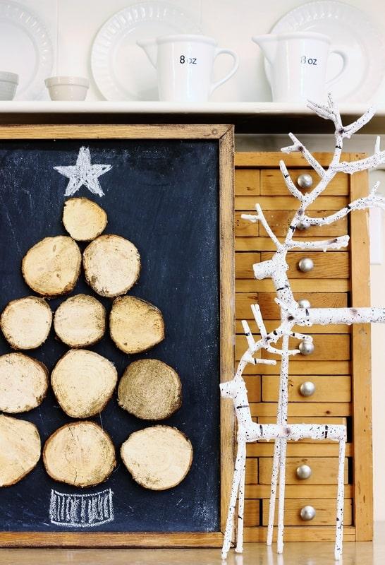 Wood Slice Christmas Tree diy wood slice project