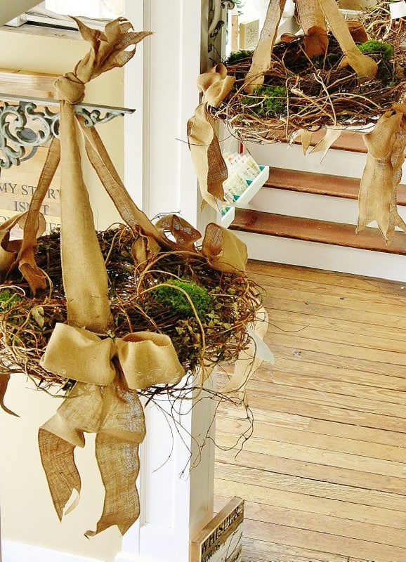 hanging wreath display