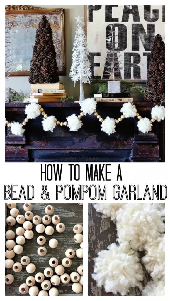 how to make a bead and pom pom garland