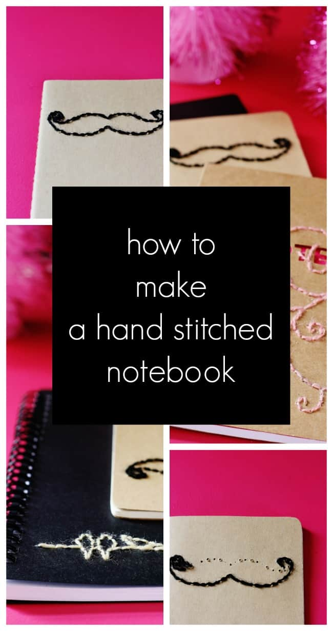 how to make a hand stitched notebook project diy
