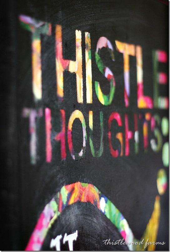 handmade gift ideas DIY chalkboard