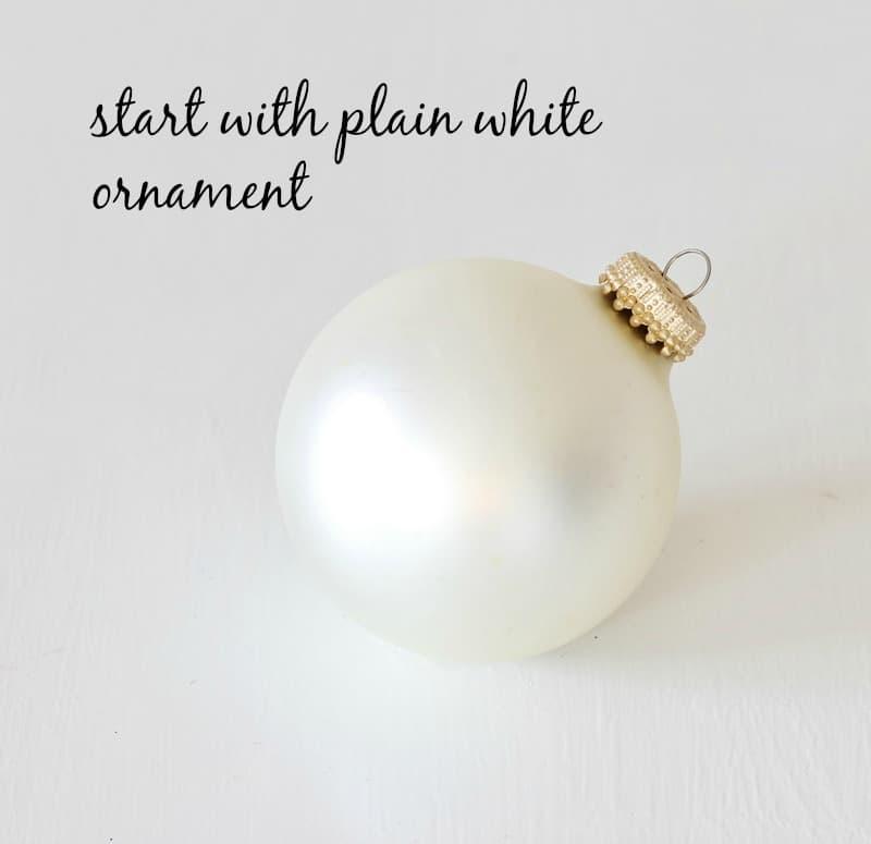 monogrammed ornament diy