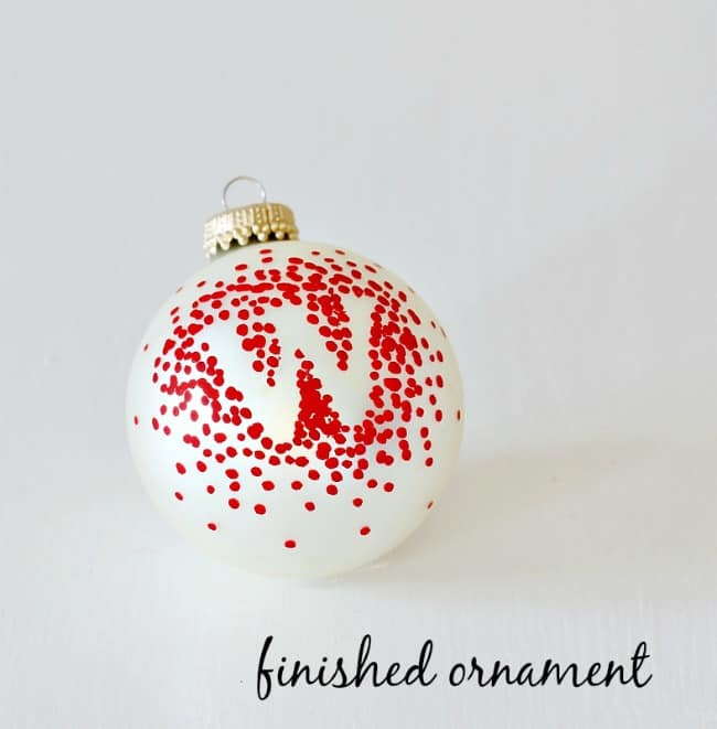 monogrammed ornament project