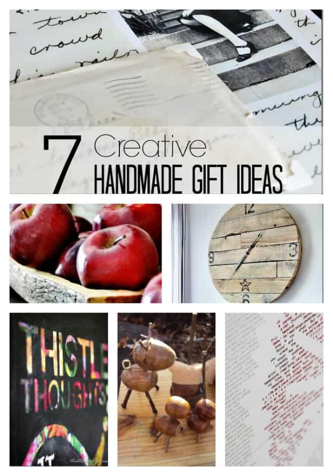 seven creative handmade gift ideas