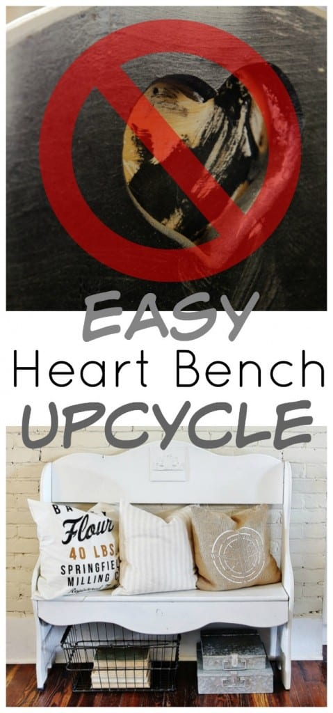 easy heart bench upcycle