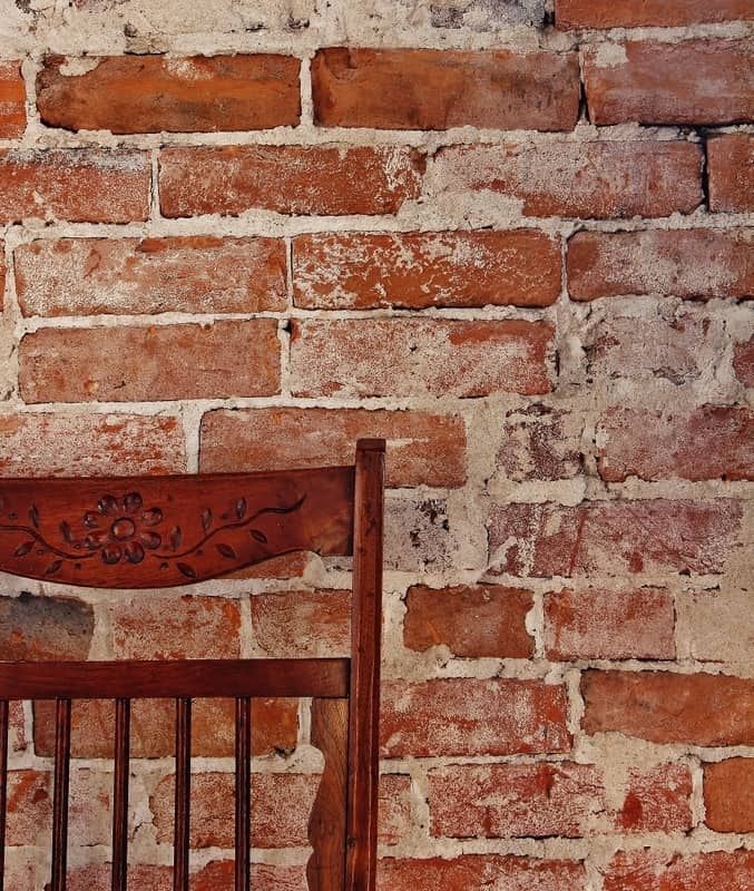 Brick Wall With Chair