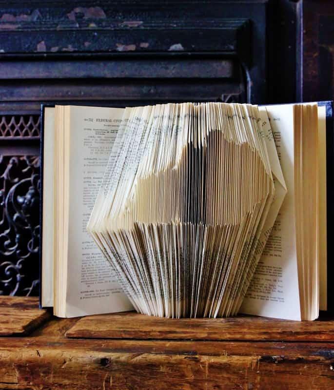 book folding artwork