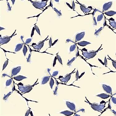 Blue and White Bird Wallpaper