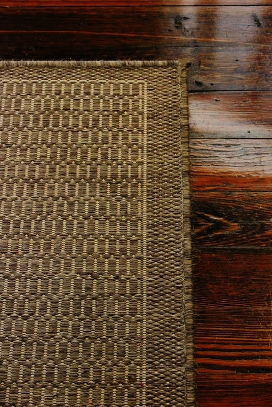 This neutral rug works great indoors and outdoors too.