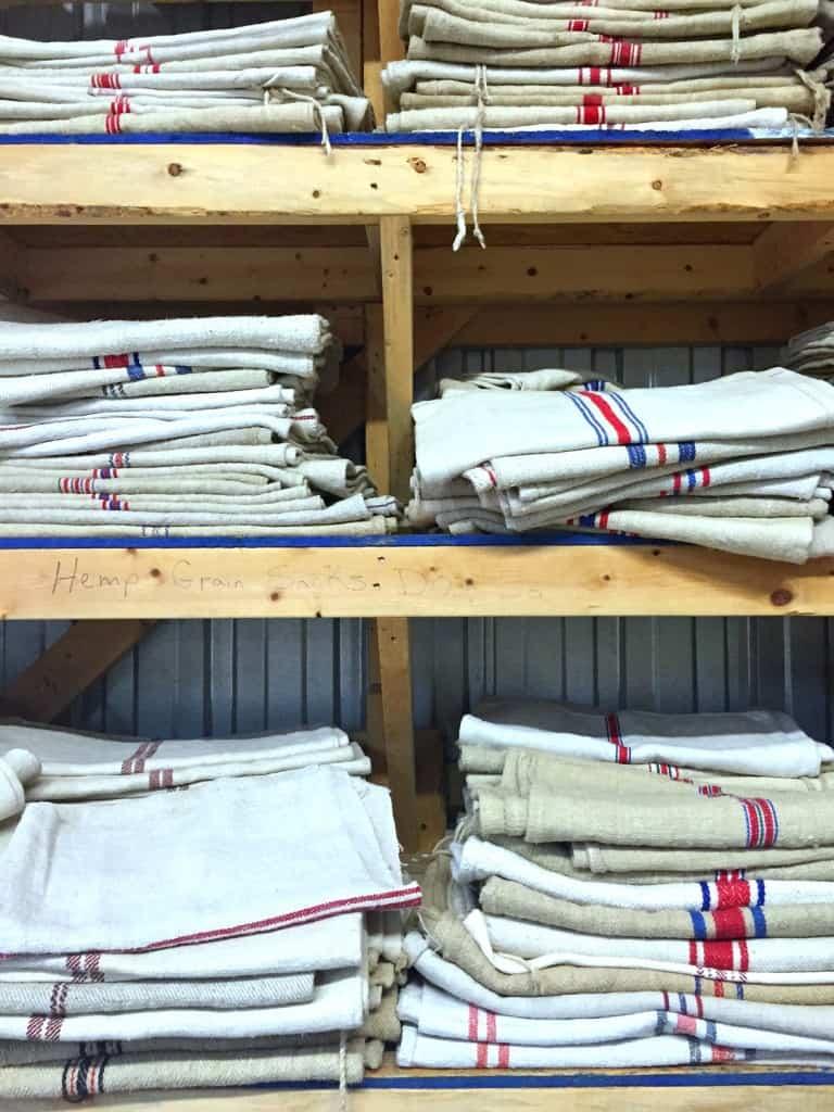 salvage shopping grain sacks