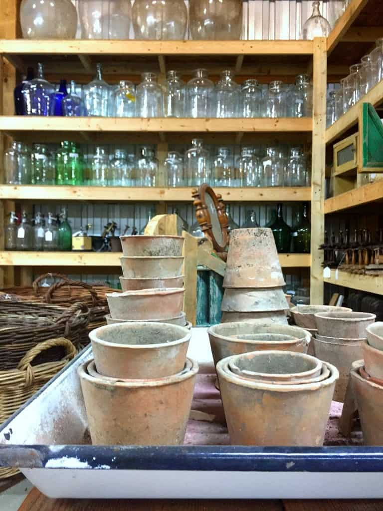 salvage shopping vintage pots