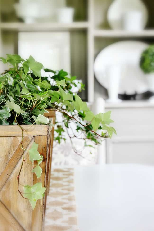 dining room table centerpiece planters