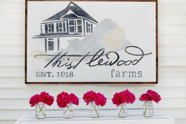How to Paint a Wood Sign (and Build a Frame, too)