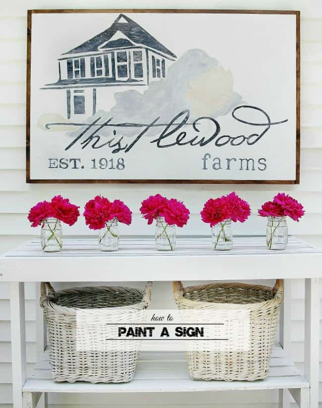 how to paint a wood sign graphic