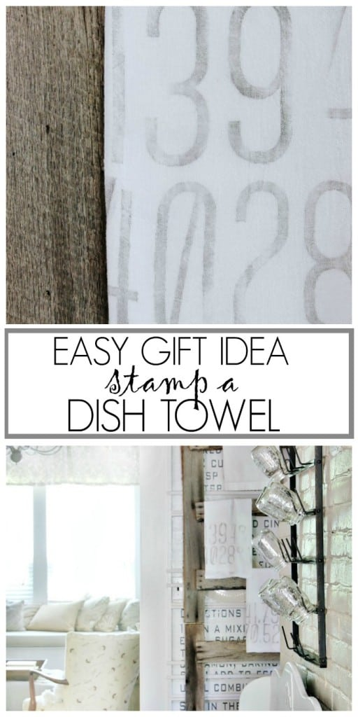stamp a dish towel