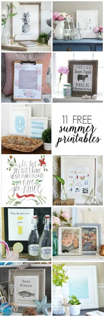 11 Free Summer Printables