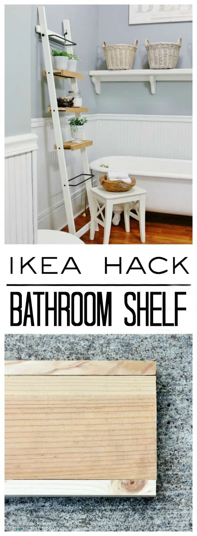 DIY IKEA Bathroom Shelf Hack  Thistlewood Farm