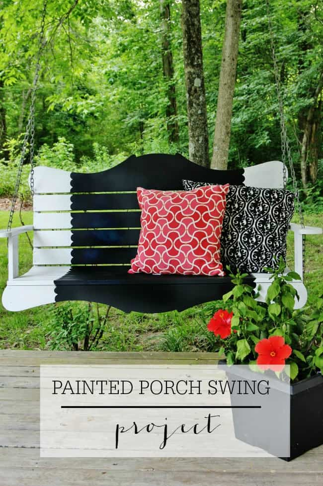 painted porch swing project