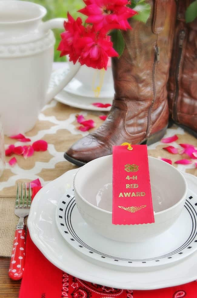 placesetting fourth of July