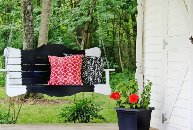 Painted Porch Swing Project Thistlewood Farm