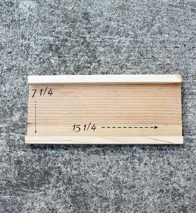 The shelves you'll need for the hack will measure 7.25 x 15.25 inches.
