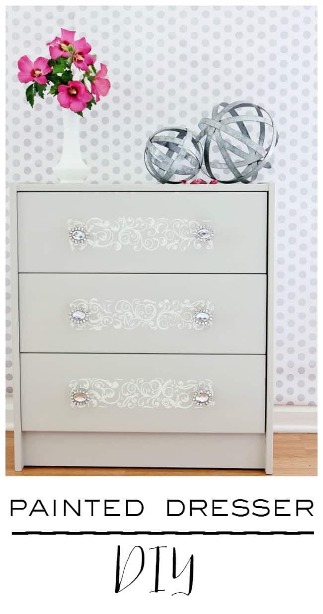 Painted Dresser DIY project how to
