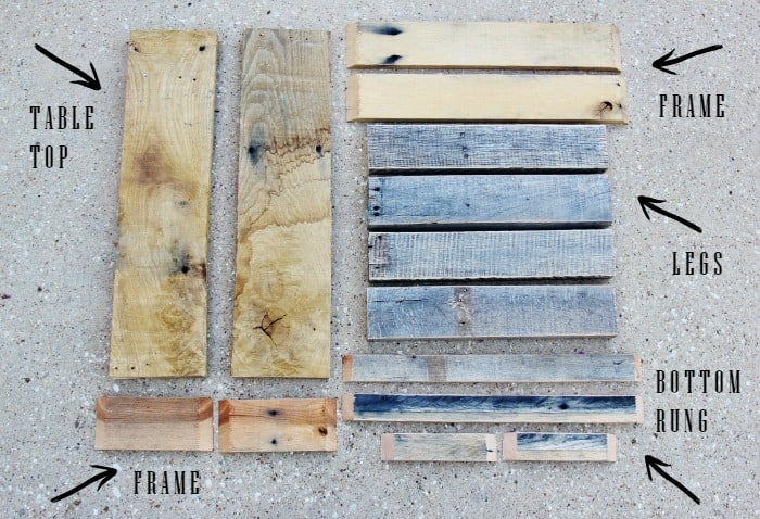 Reclaimed Wood Stool Parts