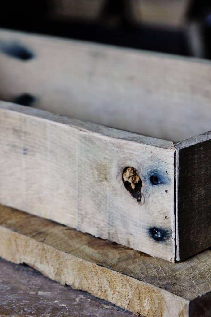 diy reclaimed wood stool thistlewood farm