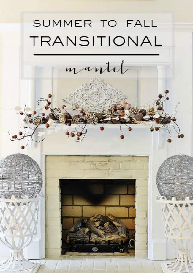 Summer to Fall Transitional Mantel