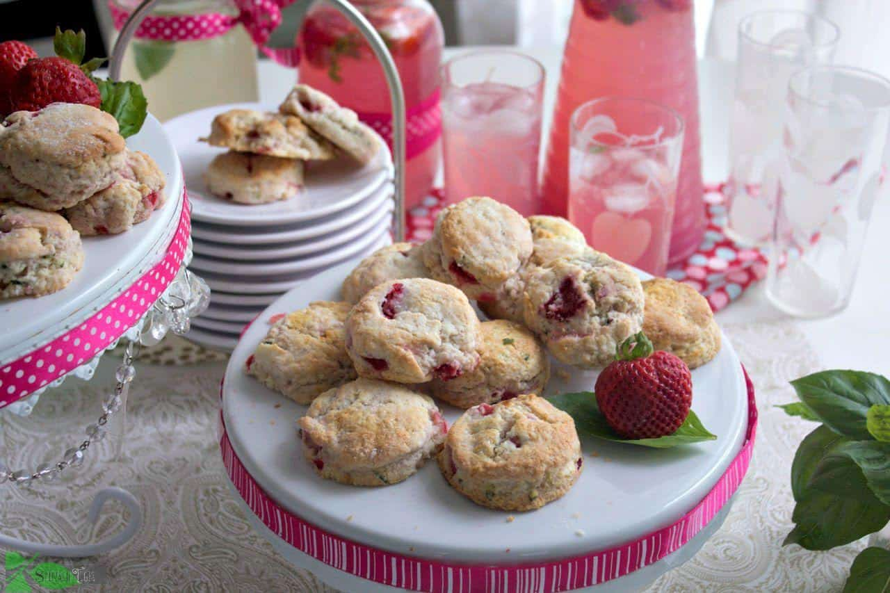 strawberry basil biscuits recipe