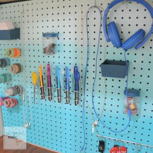 under desk ombre pegboard with attachments 300x300