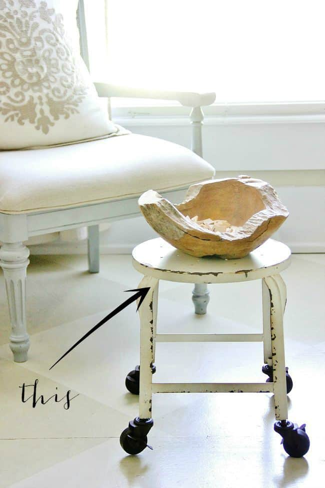 Painted Fox Farmhouse Stool picture