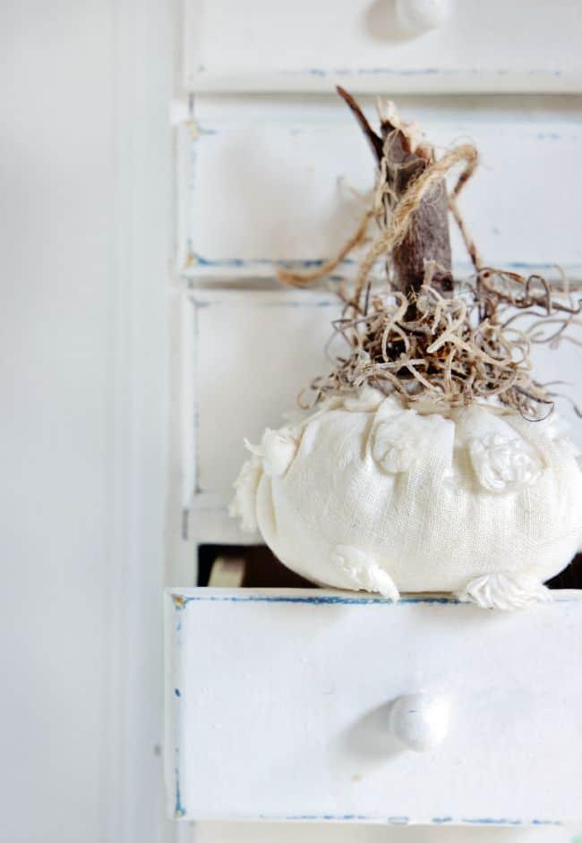 chenille pumpkin