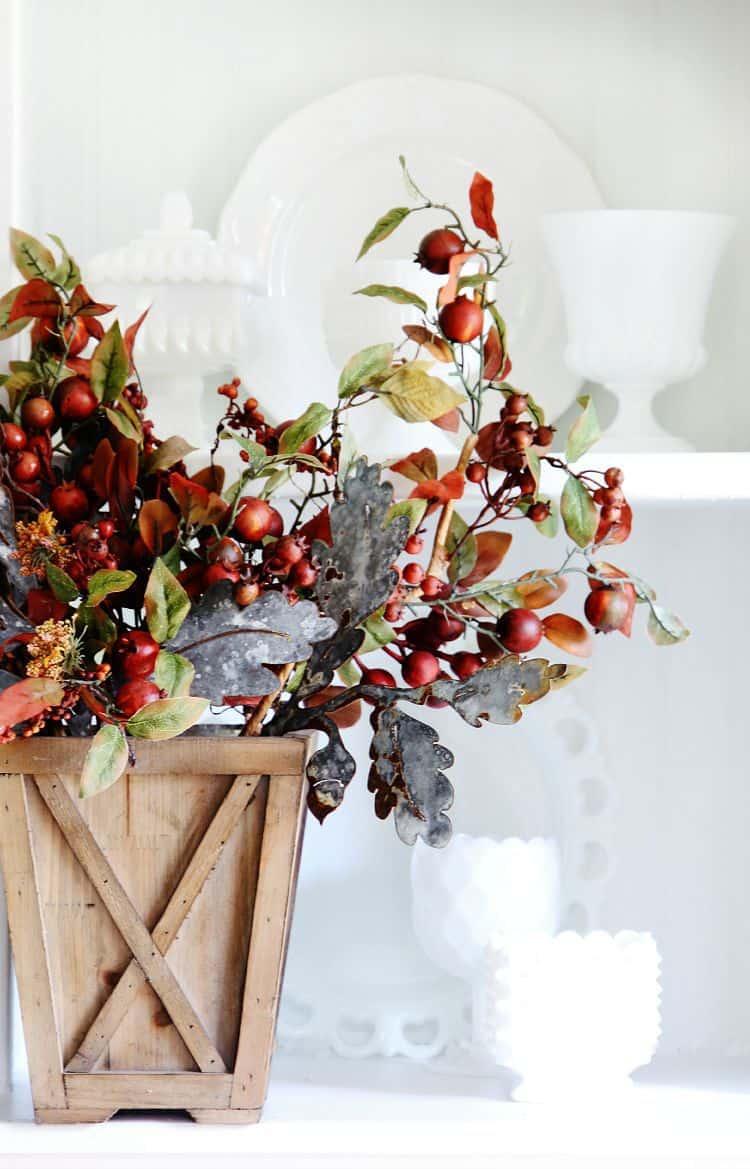 decorating a fall hutch three ways